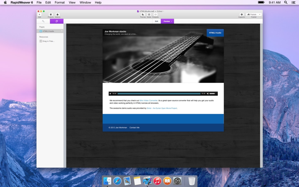 HTML5 Audio screenshot