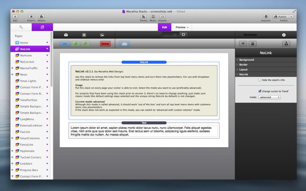 NoLink Stack screenshot