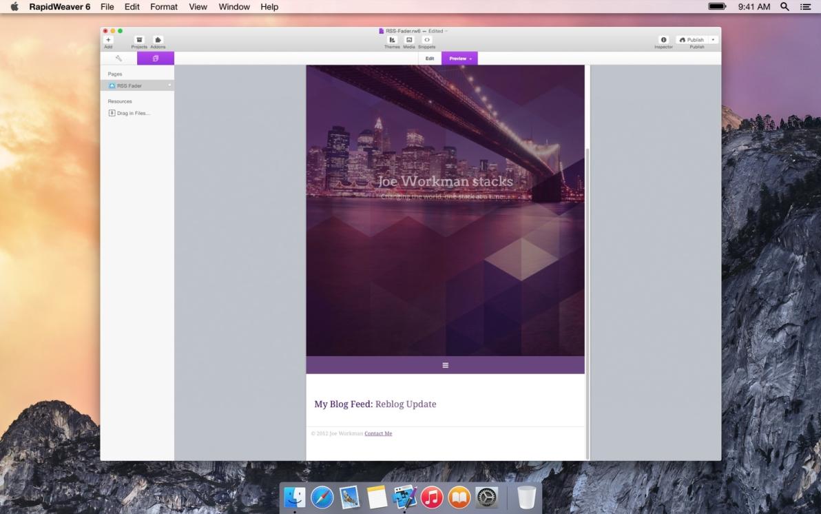 RSS Fader screenshot