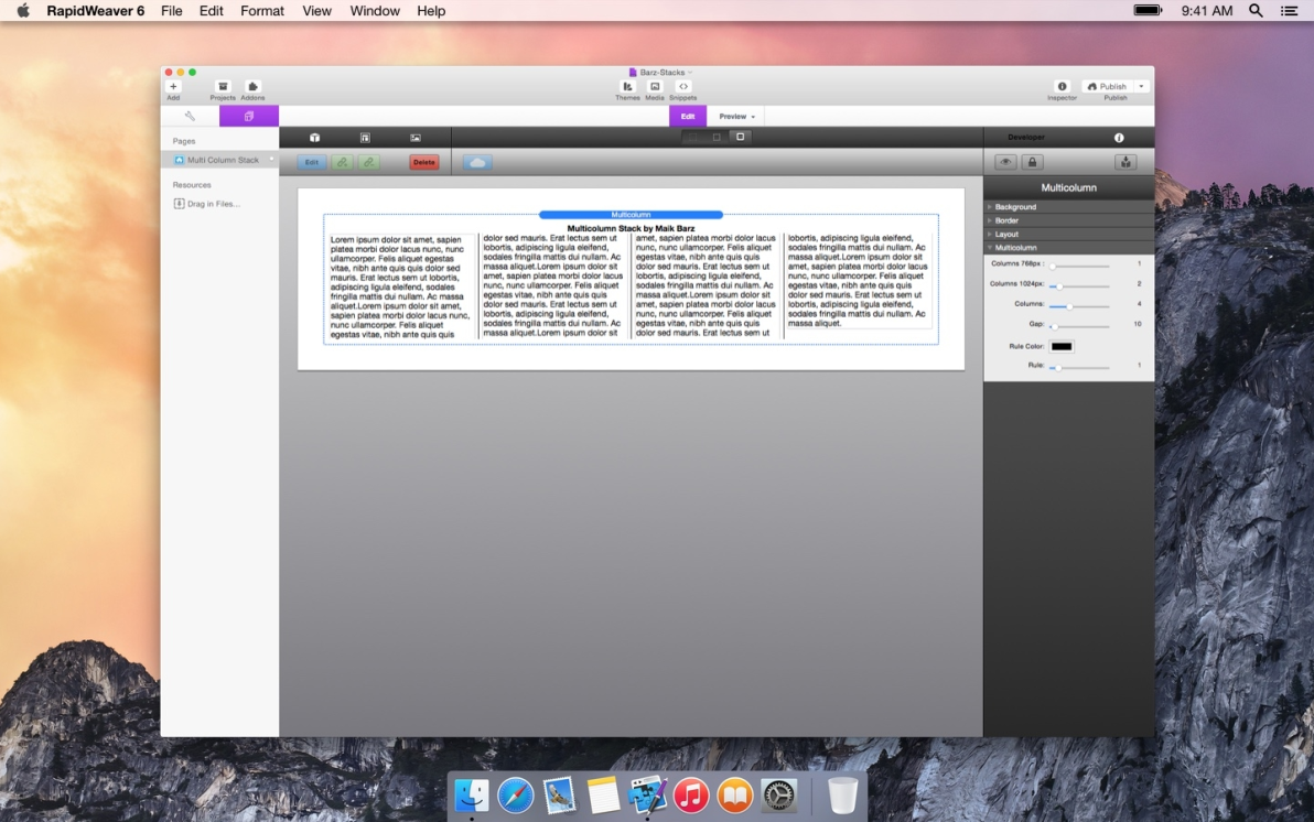 Multi Column screenshot