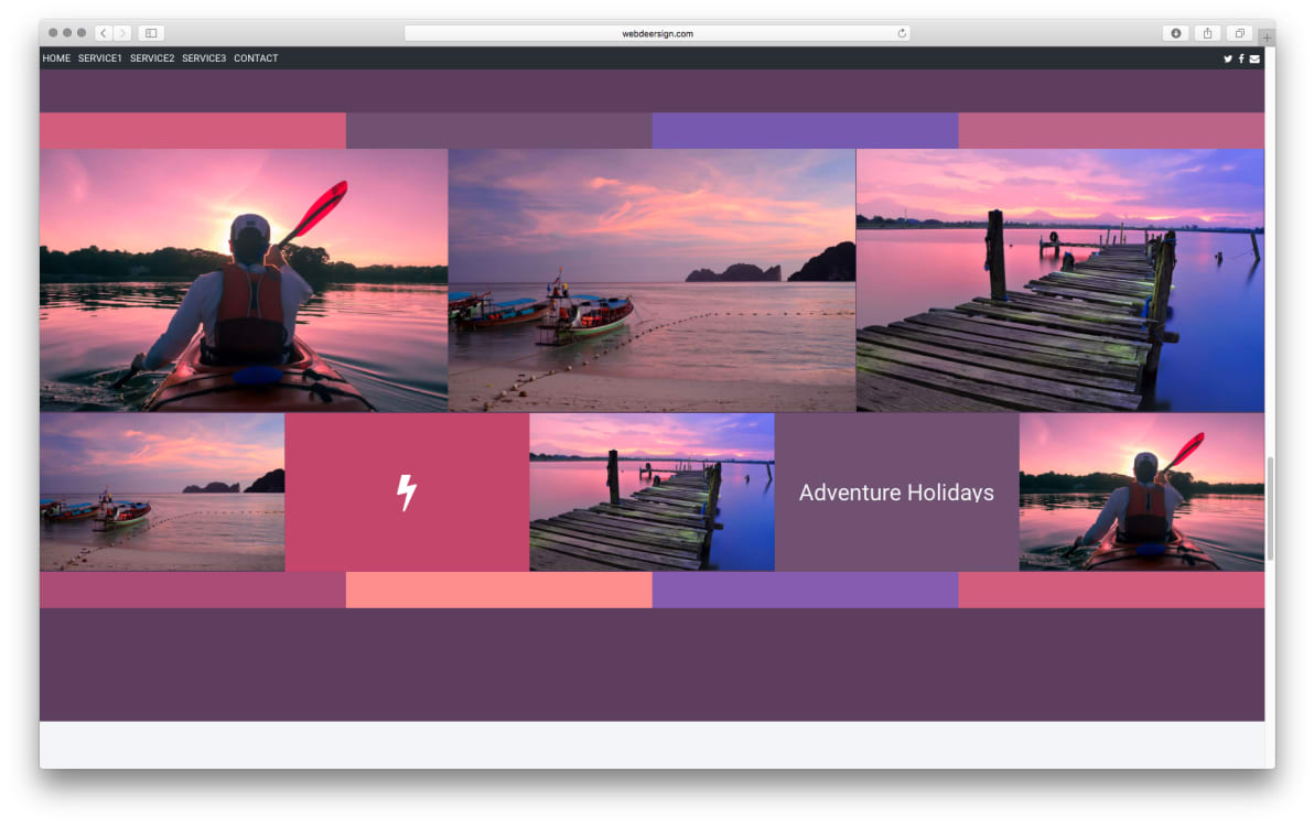 WDS Template 3 screenshot