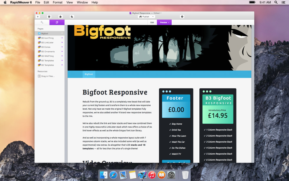 Bigfoot Responsive screenshot