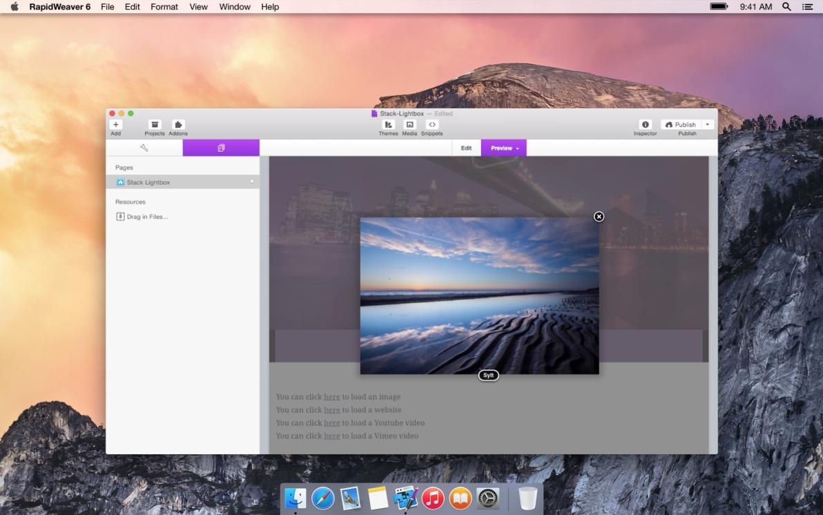 Stack Lightbox screenshot