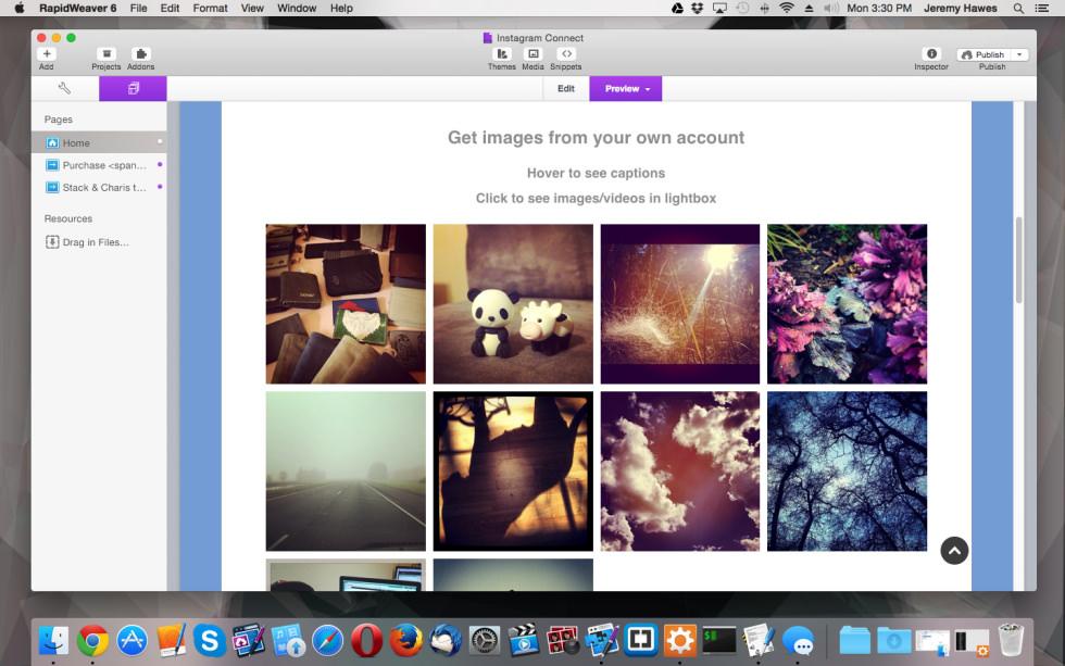 Instagram Connect screenshot