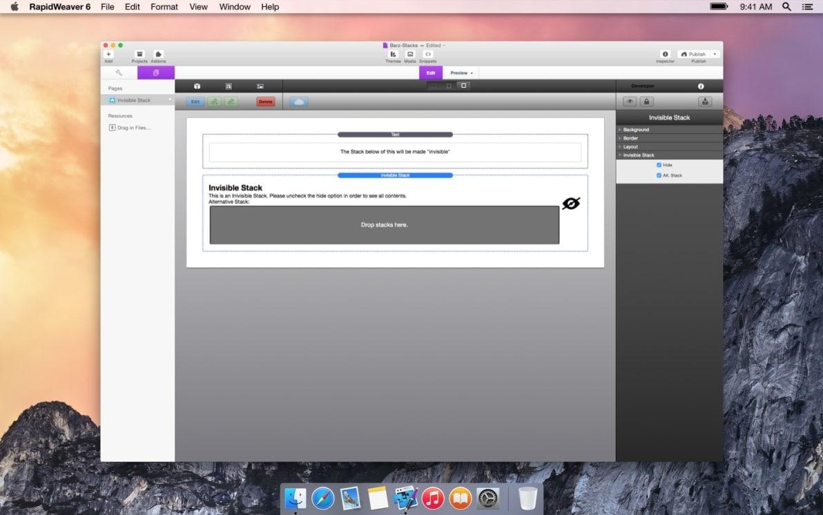 Invisible screenshot