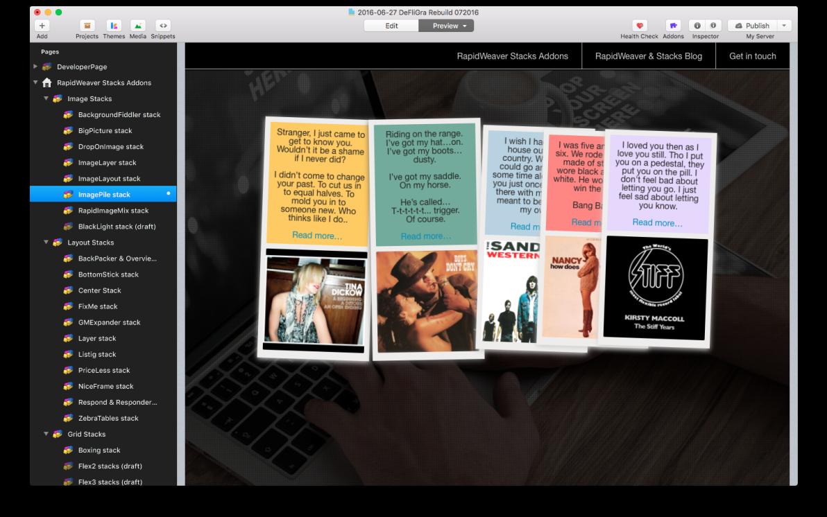 Image Pile Gallery Stack screenshot