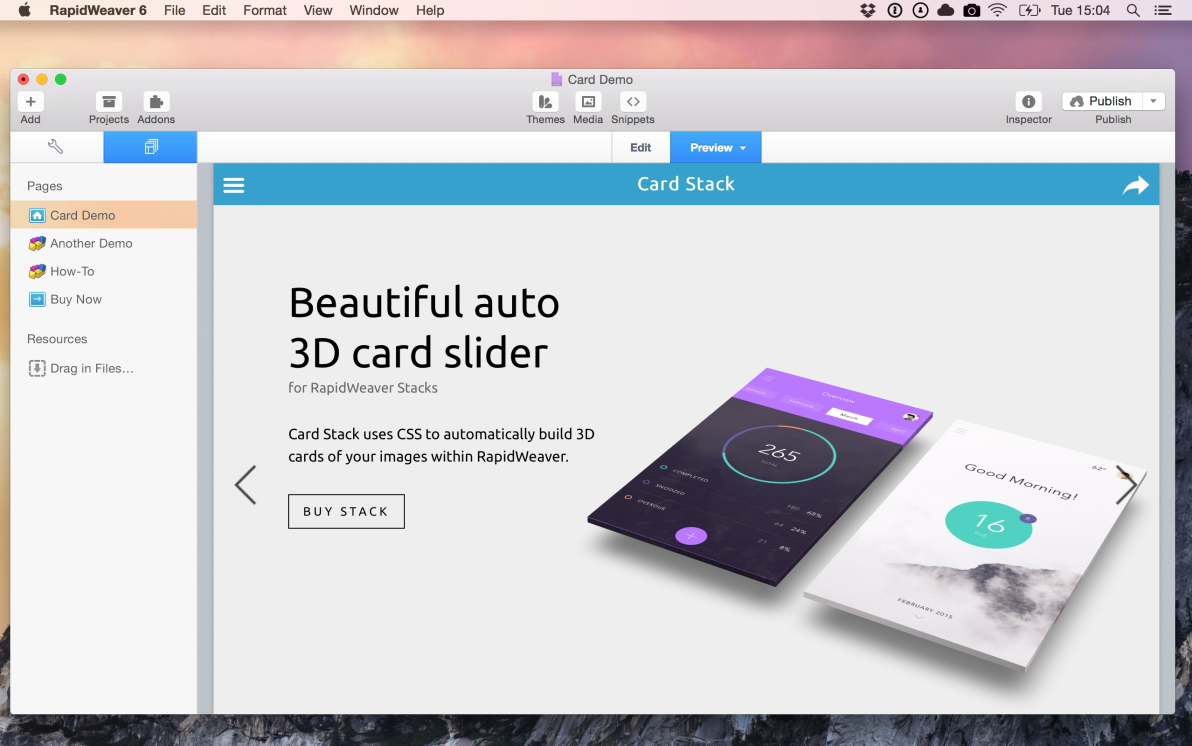 Card screenshot