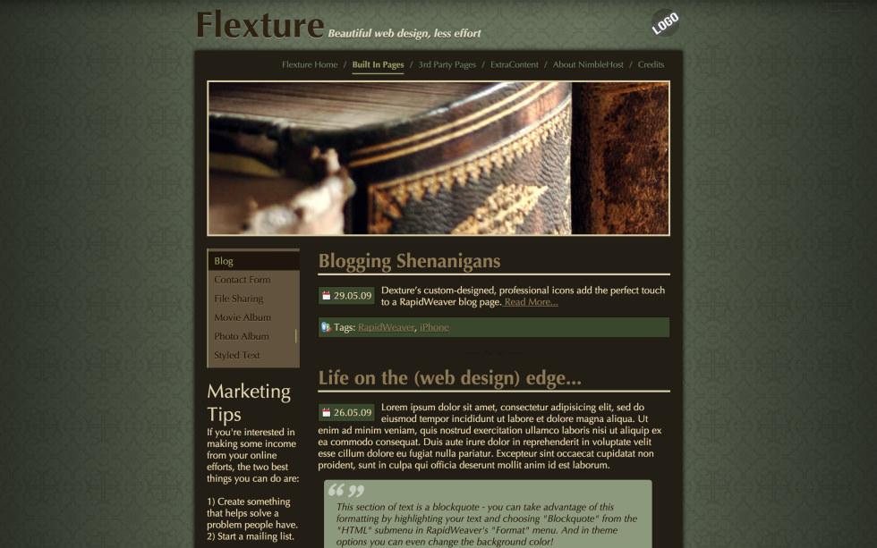 Flexture screenshot