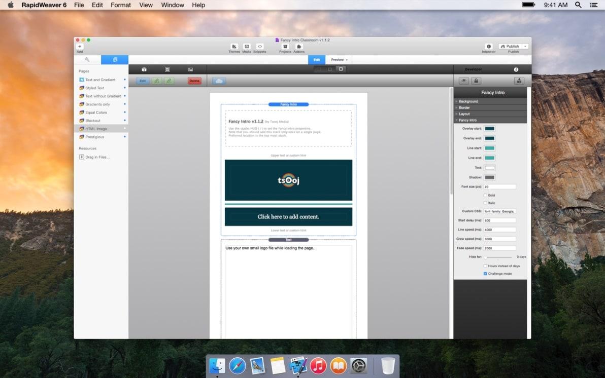 FancyIntro screenshot