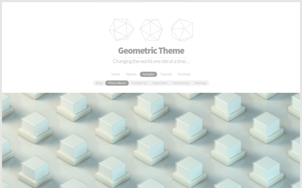 Geometric screenshot