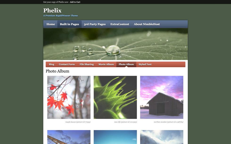 Phelix screenshot