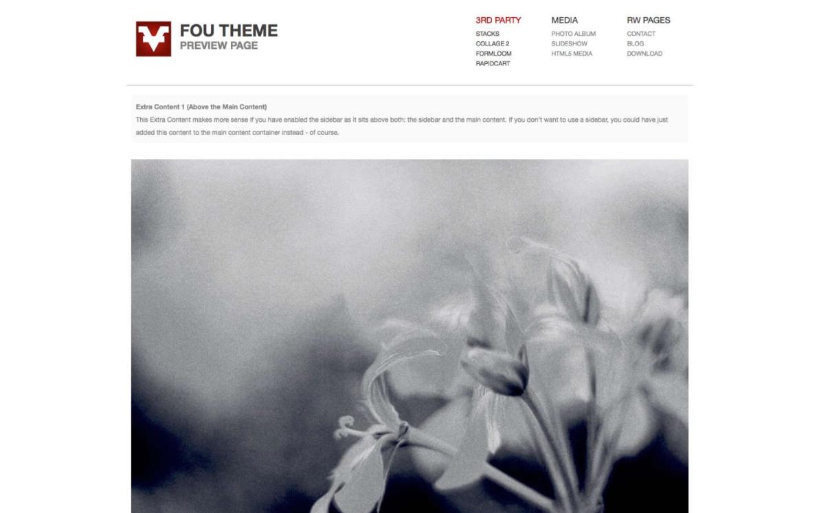 FOU Theme screenshot