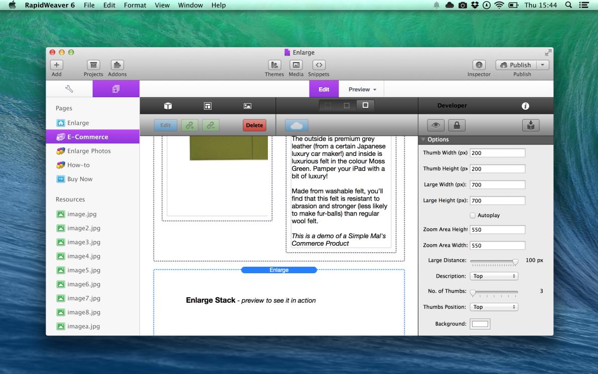 Enlarge screenshot