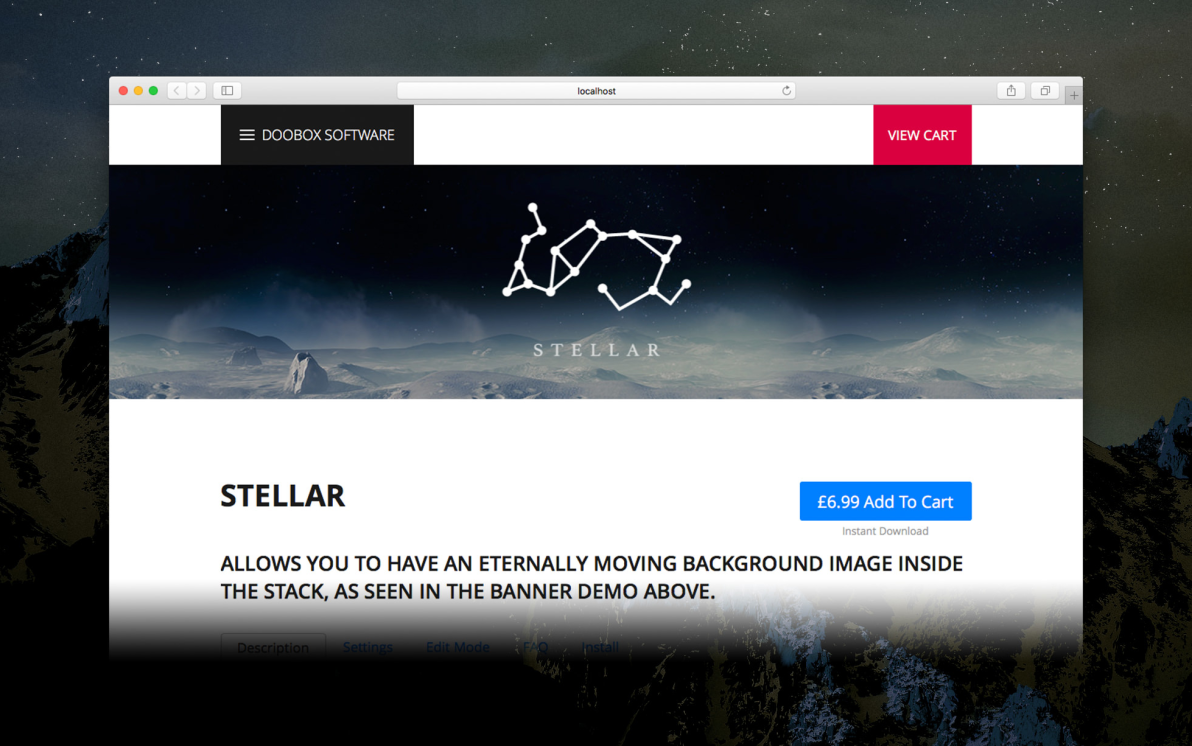 Stellar screenshot
