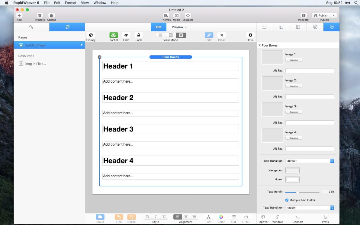 Four Boxes screenshot