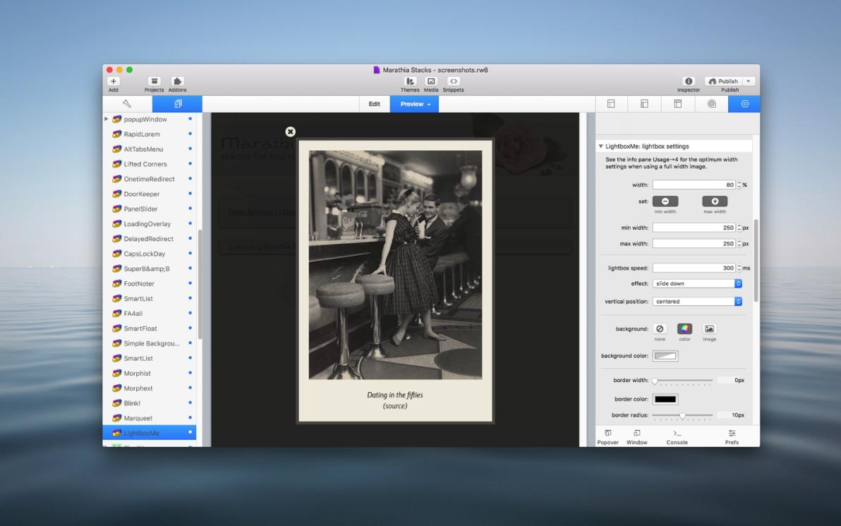 LightboxMe Stack  screenshot