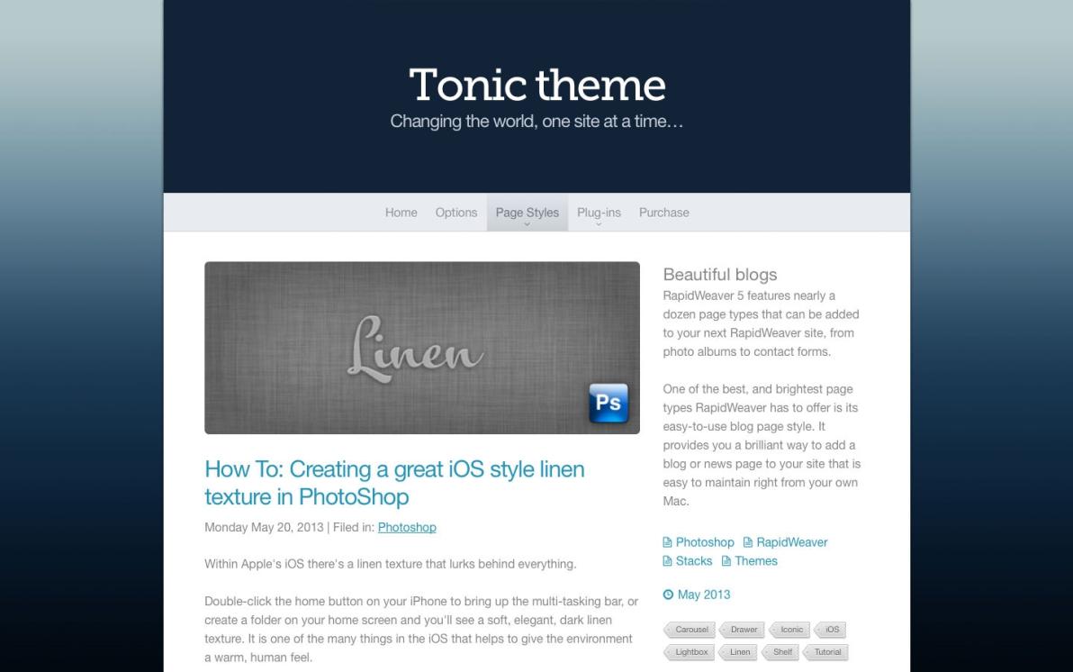 Tonic screenshot