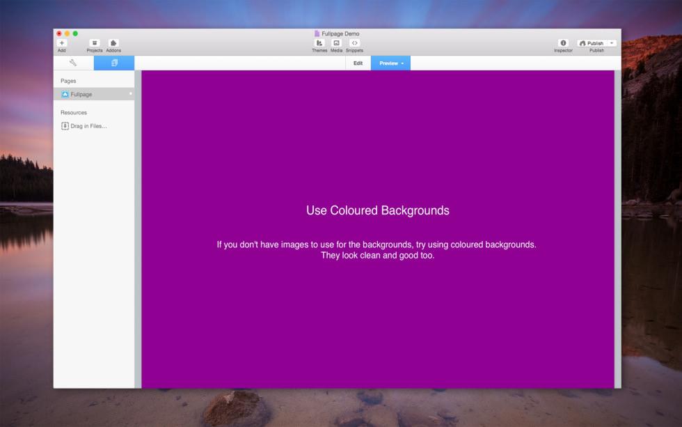 Fullpage Scrolling Stack screenshot
