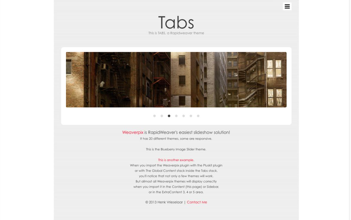Tabs screenshot