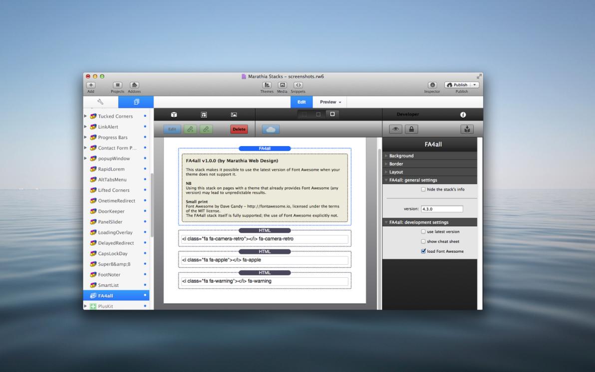 FA4all  Stack screenshot