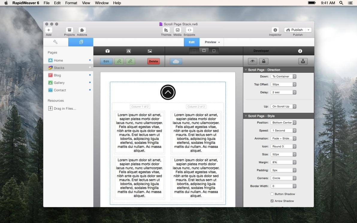 Scroll Page screenshot