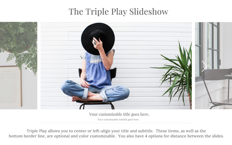 Triple Play Slideshow screenshot