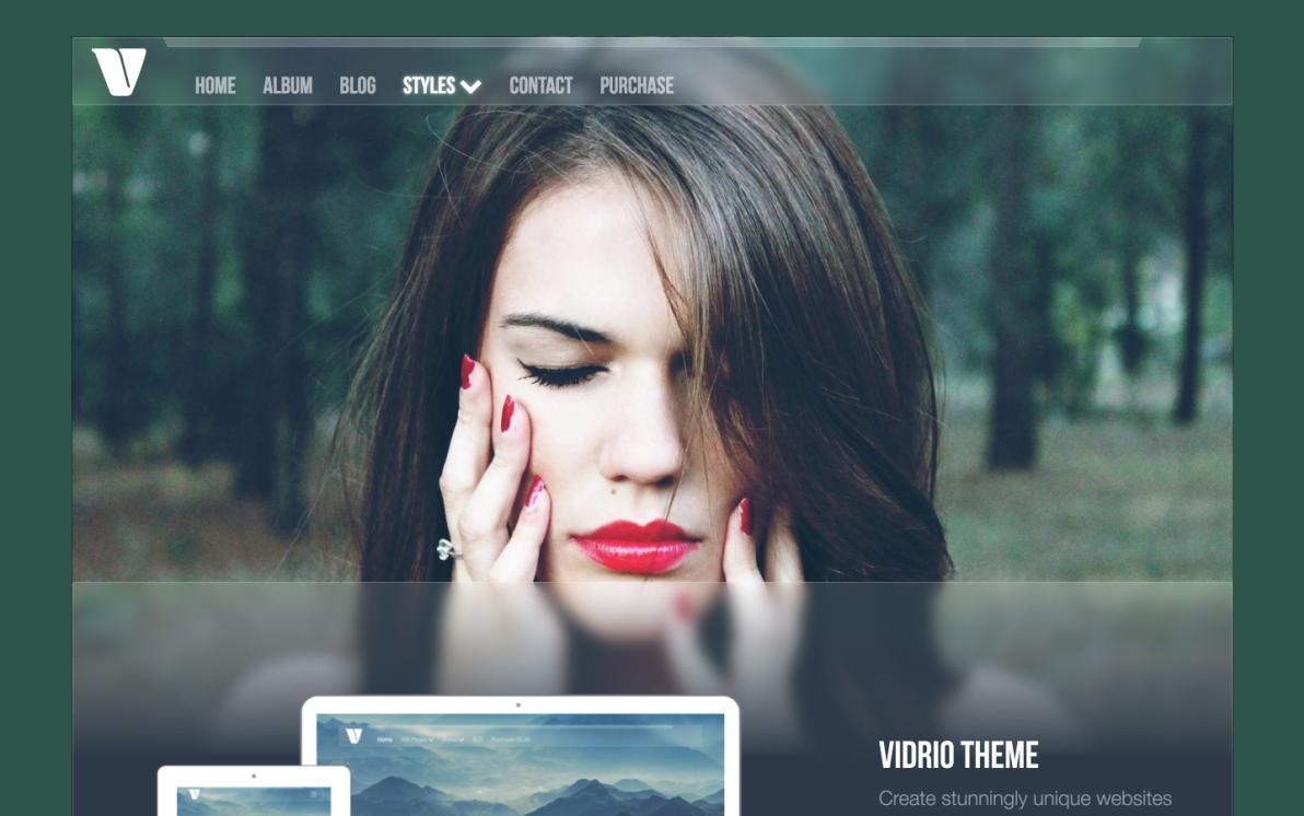 Vidrio Theme screenshot