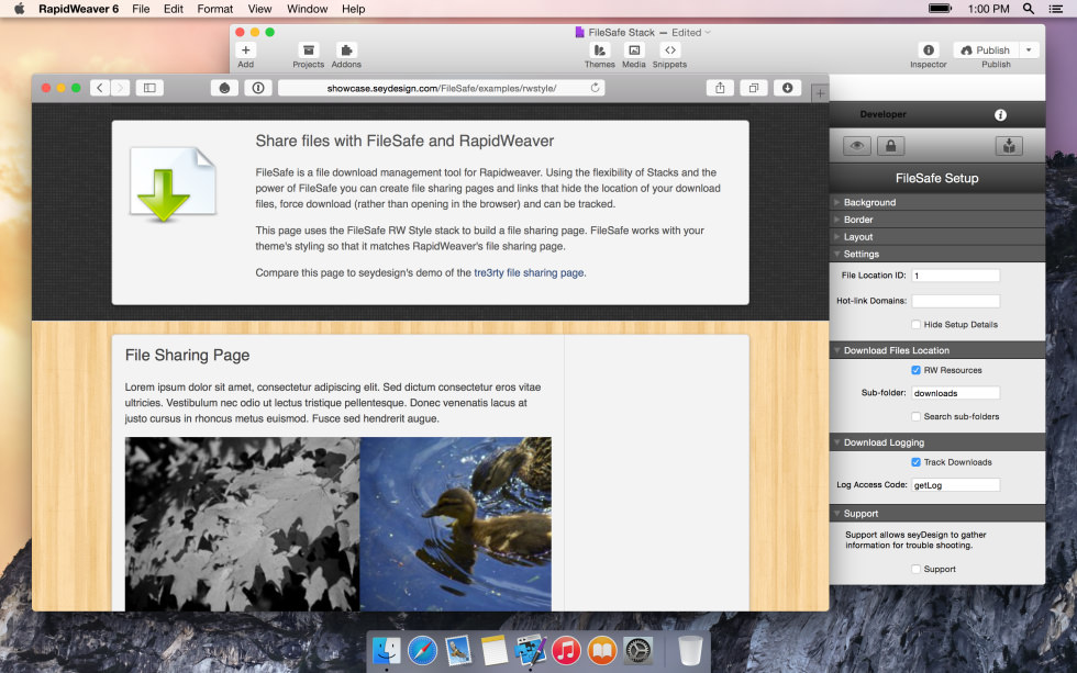 seyDesign FileSafe screenshot