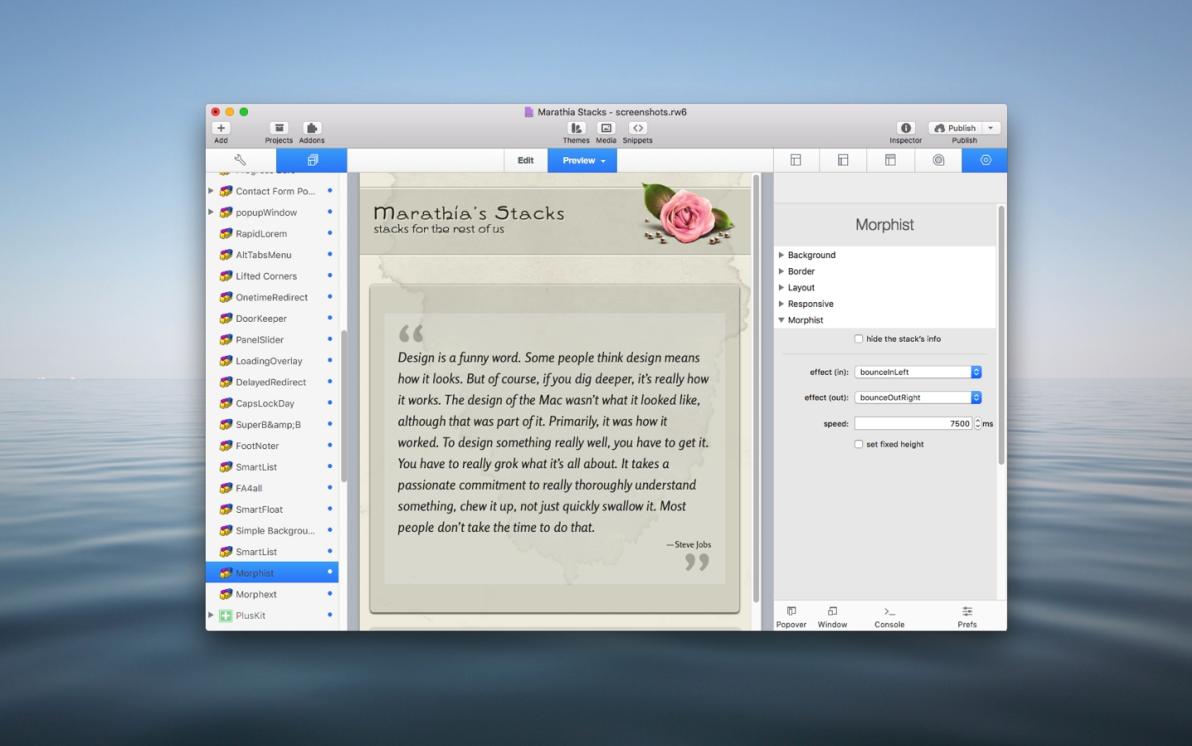 Morphist Stack screenshot