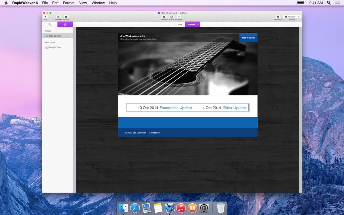 RSS Stream screenshot