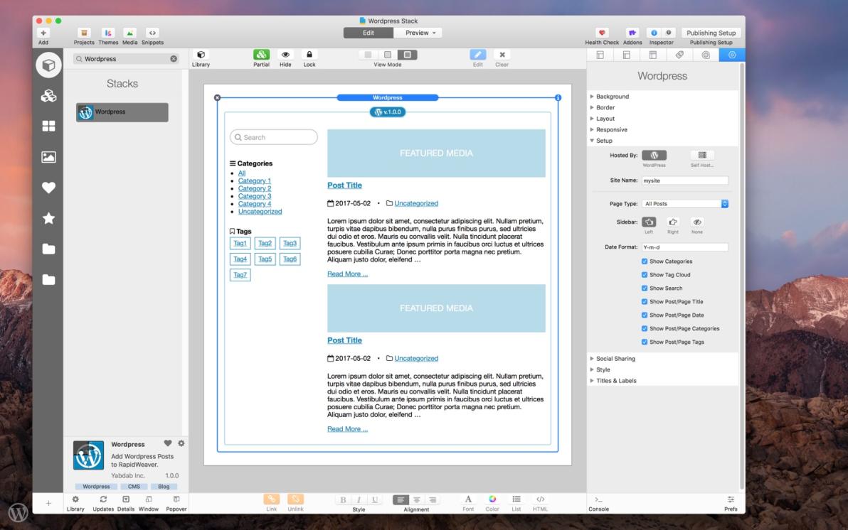 Wordpress Stack screenshot