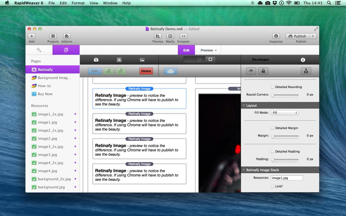 Retinafy screenshot