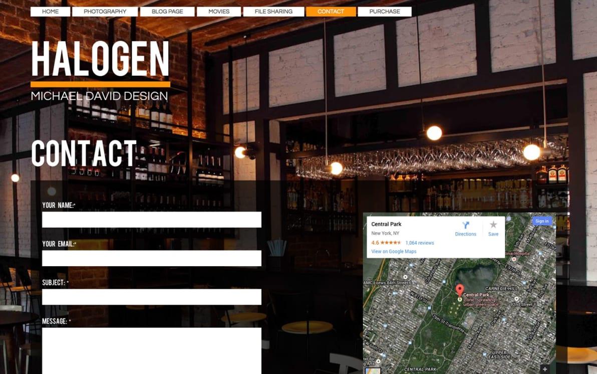 Halogen screenshot