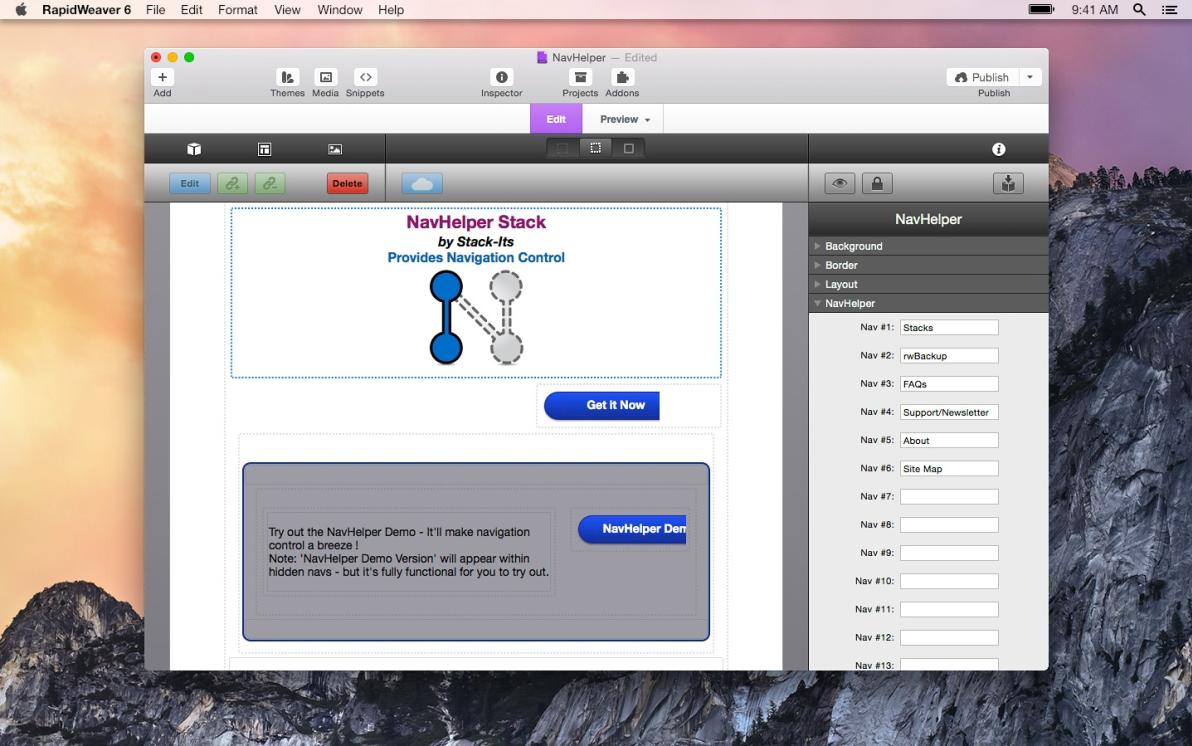 NavHelper screenshot