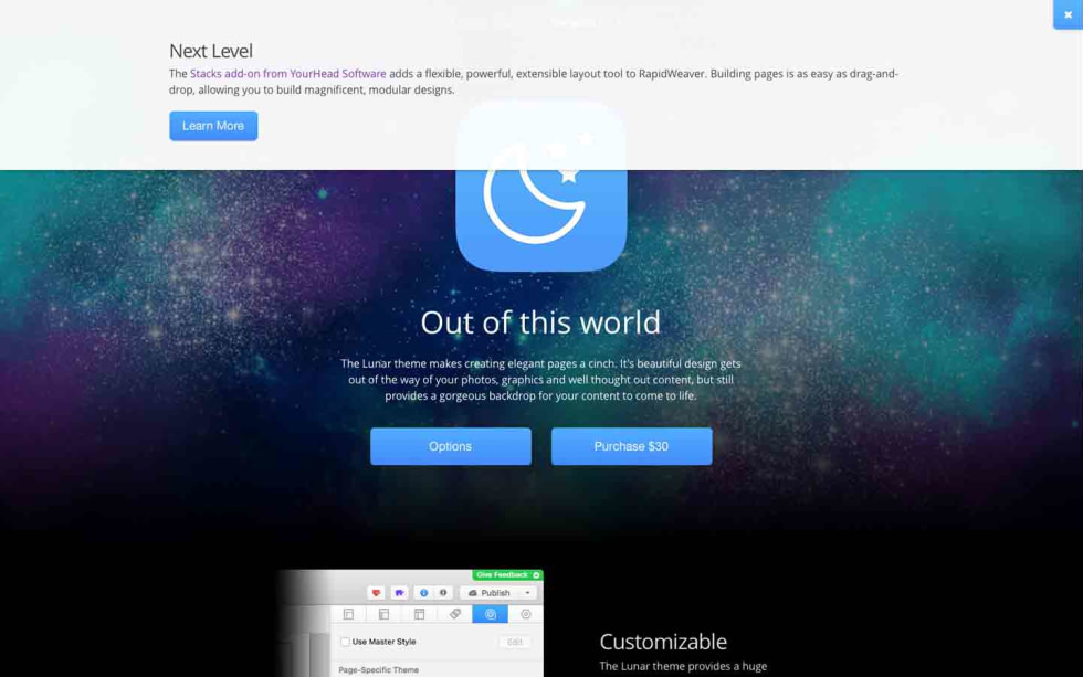 Lunar screenshot