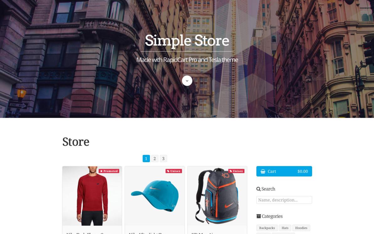 Simple Store screenshot