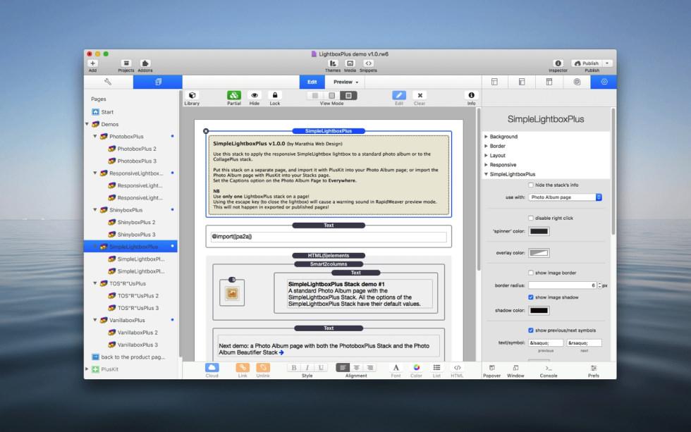 SimpleLightboxPlus Stack screenshot