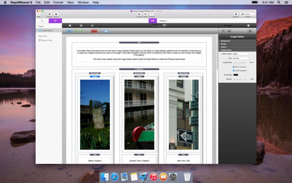 Image Gallery screenshot