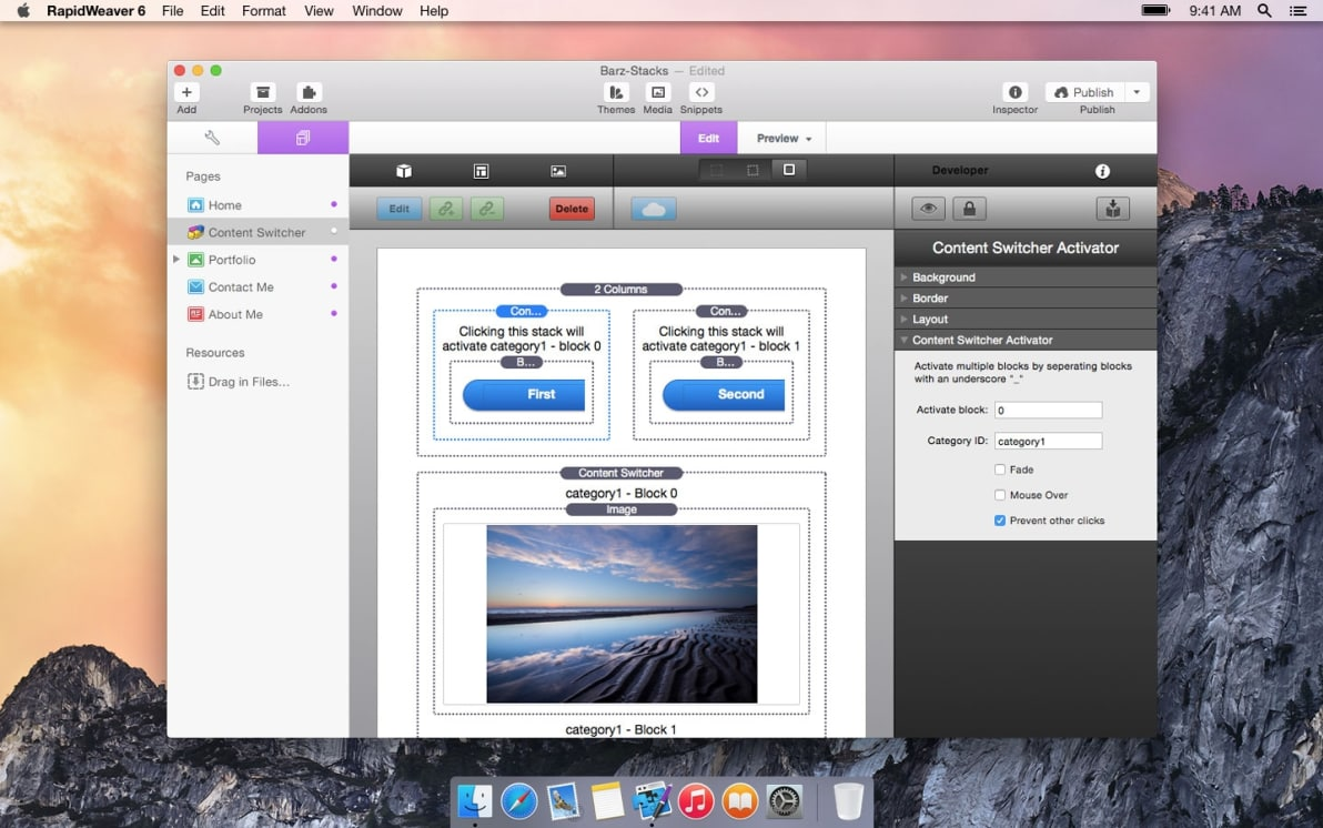 Content Switcher screenshot