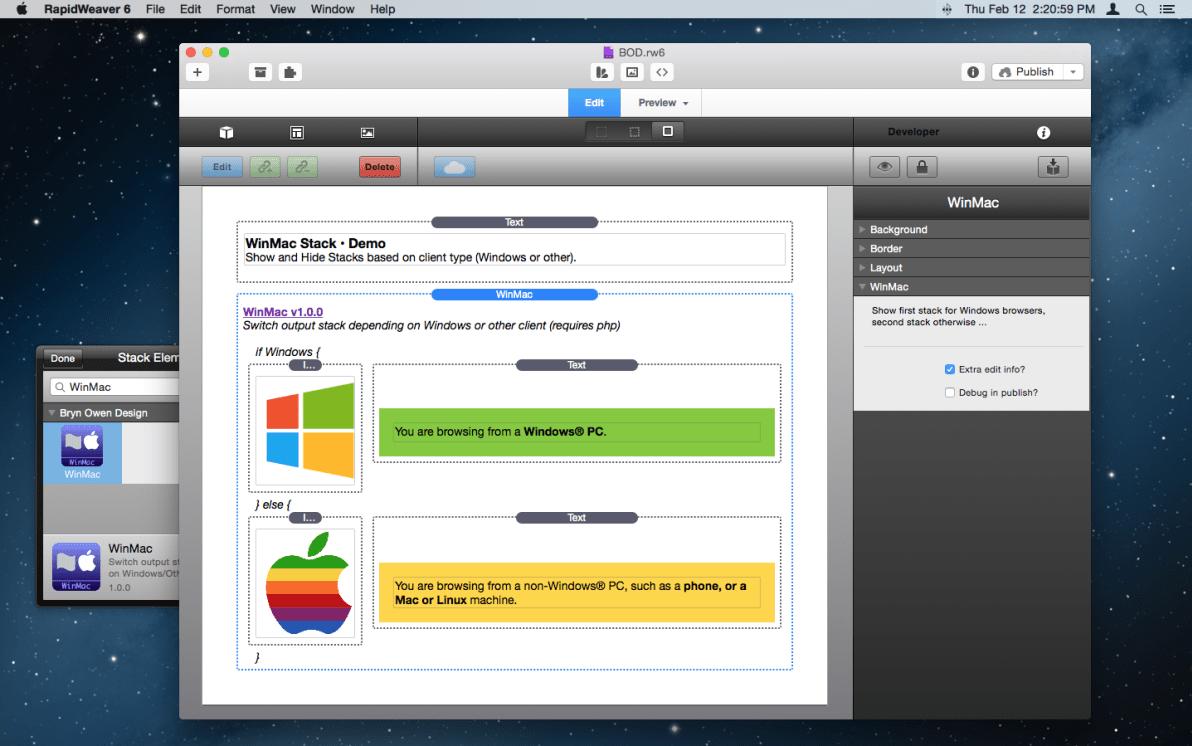 WinMac Stack screenshot