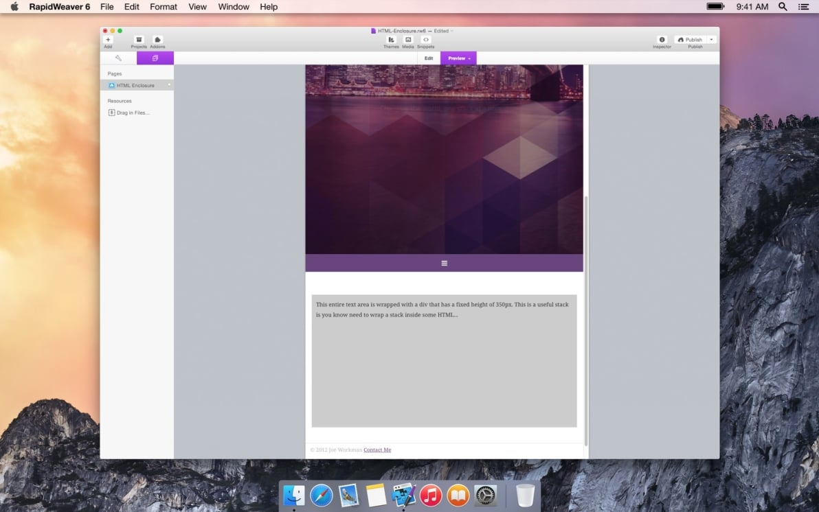 HTML Enclosure screenshot