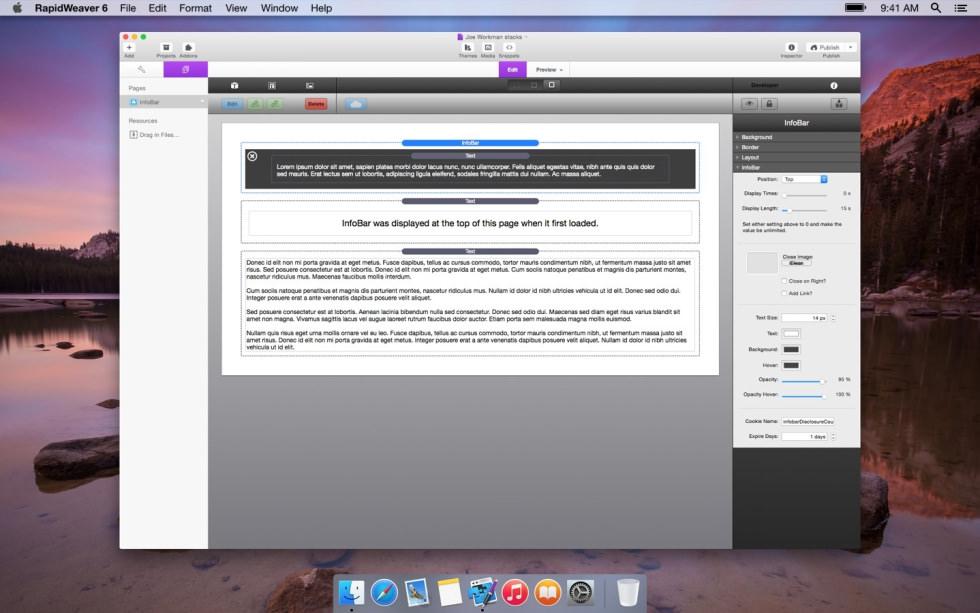 InfoBar screenshot