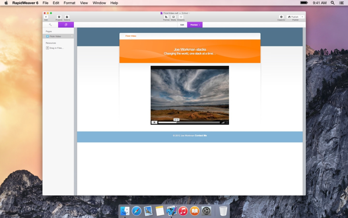 Flickr Video screenshot