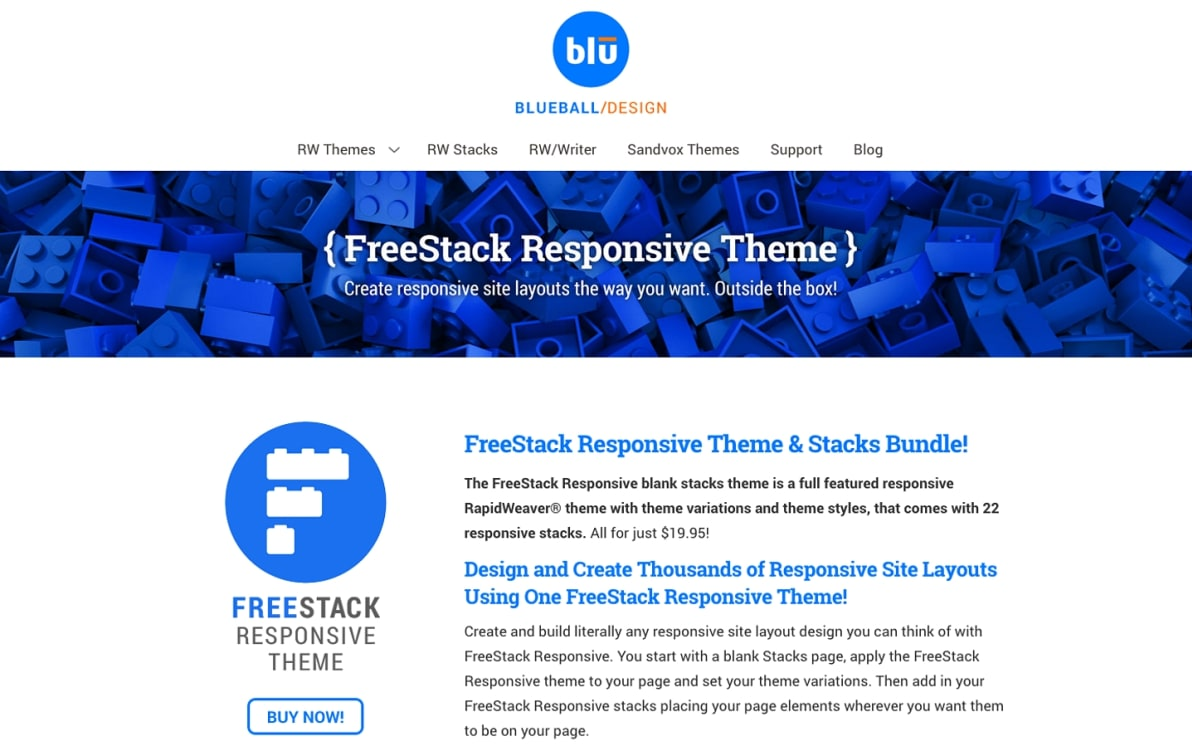 FreeStack Responsive screenshot
