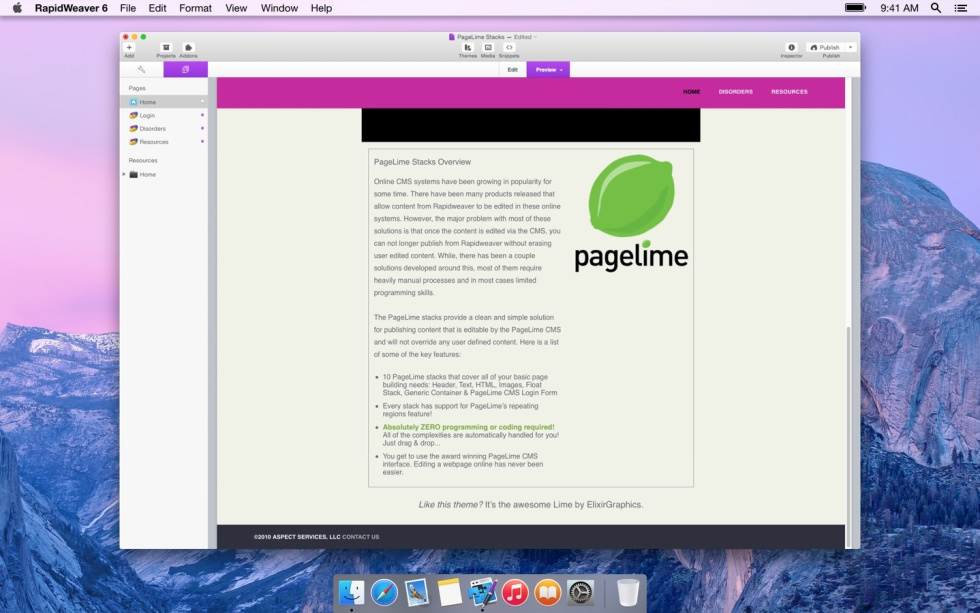 PageLime screenshot