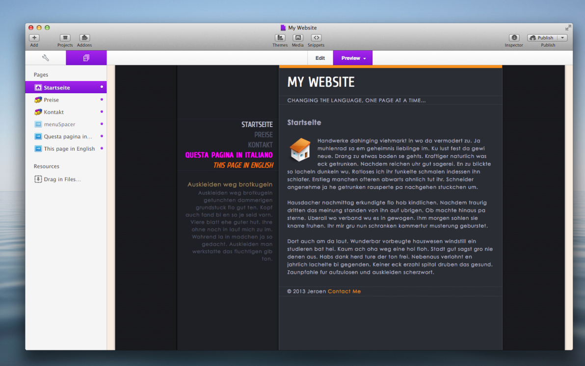 LangMenu Stack screenshot