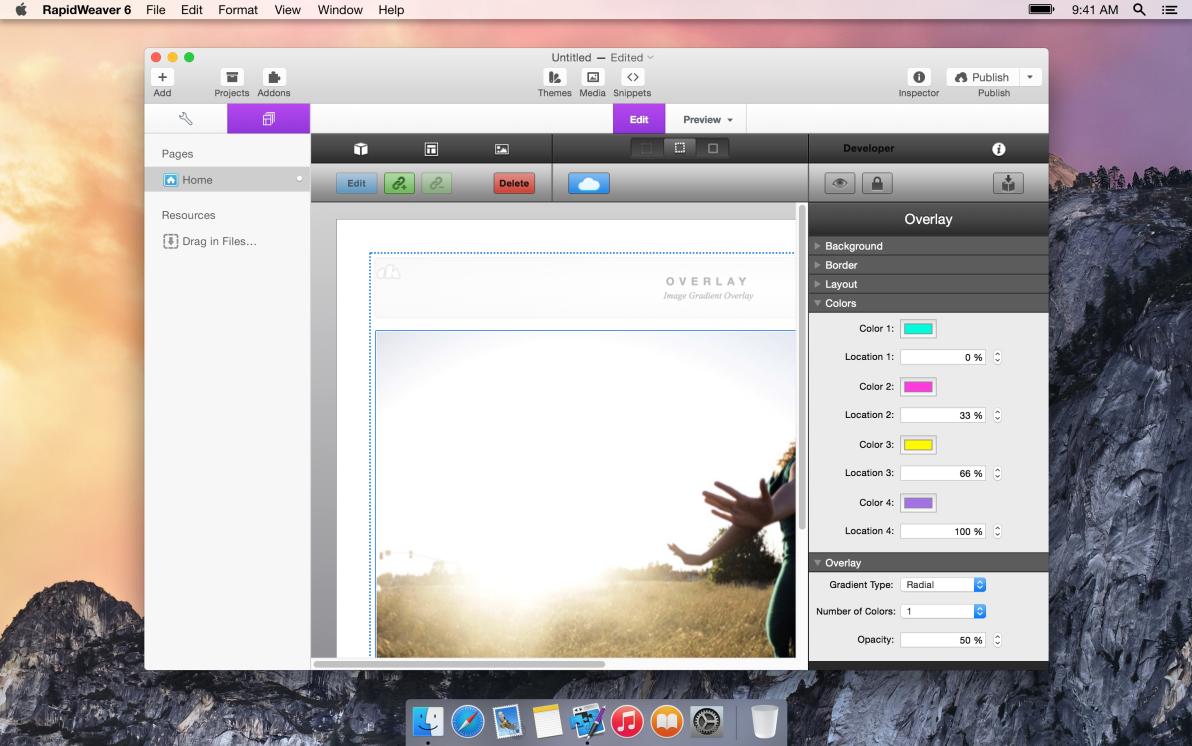 Overlay screenshot