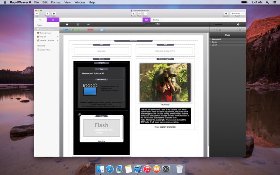 Expose screenshot