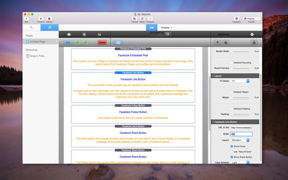 Facebook Plugins screenshot