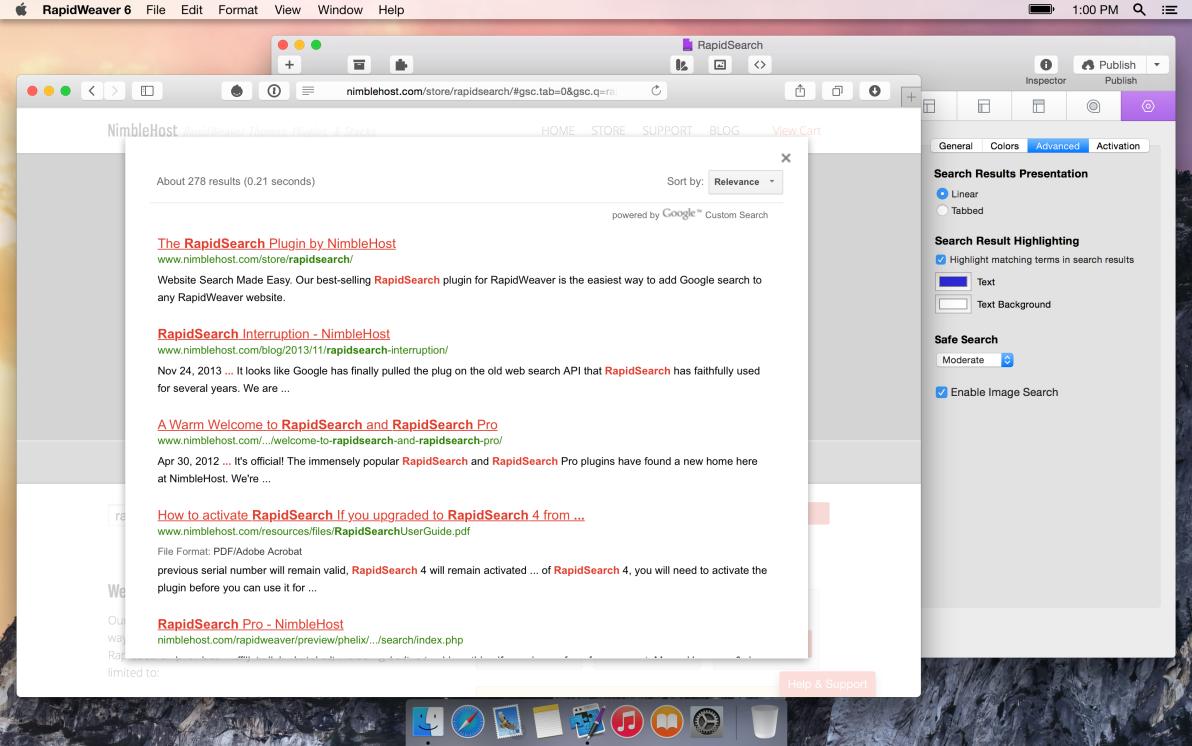 RapidSearch screenshot
